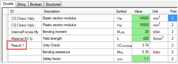 Step 2: Set the ESA ID for each variable which needs to be